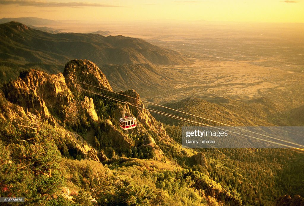 Sandia Tramway and Mountains : Stock Photo