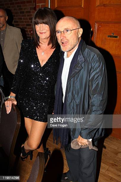 Sandie Shaw and Phil Collins attend the Glenfiddich Mojo Honours List 2011 at The Brewery on July 21 2011 in London England