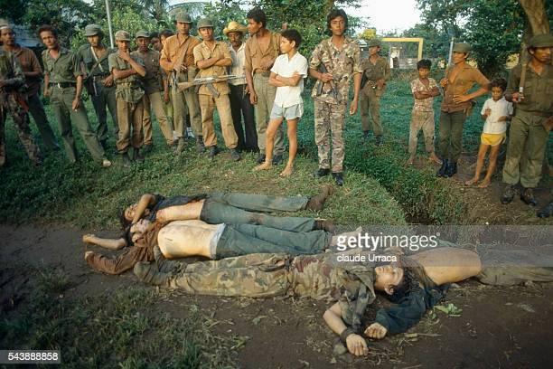 Sandinista guerrilleras shot dead by Contras in Cardenas | Location Cardenas Nicaragua