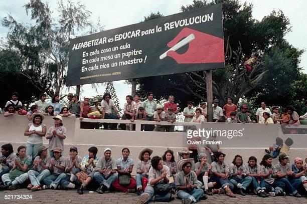 Sandinista Literacy Rally in Nicaragua