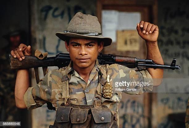 Sandinista Soldier on Patrol