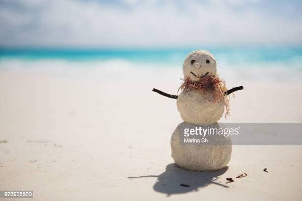 Sandman on beach, Cayo Largo, Cuba, Caribbean Sea