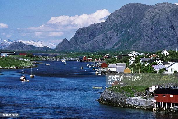 Sandnesjoen landscape For more than a century the coastal steamer Hurtigruten has been the lifeline linking the tiny fishing communities scattered...
