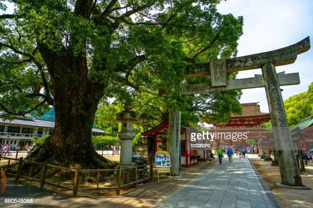 Sando (参道)(Visiting Path) and Torii Gate of Dazaifu Tenman-gu (太宰府天満宮), the Shrine for Wisdom, in Dazaifu (太宰府), Fukuoka Prefecture (福岡県) Japan