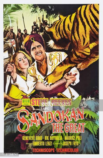 Sandokan The Great poster US poster art from left Genevieve Grad Steve Reeves 1963