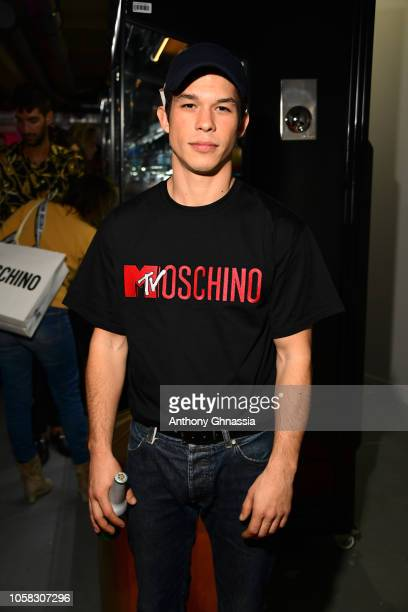 Sandor Funtek attends MOSCHINO [tv] HM Launch Party at Le Dernier Etage on November 6 2018 in Paris France