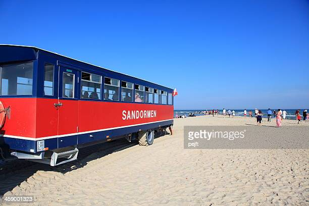 sandormen at grenen, skagen the spits of denmark - pejft stock pictures, royalty-free photos & images