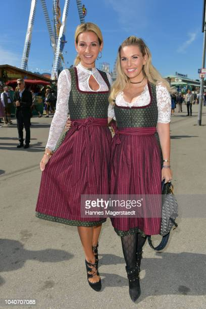 Sandra Abt and Alessandra Geissel during the charity lunch in favor of the Frohes Herz eV as part of the Oktoberfest 2018 at Zur Bratwurst tent at...