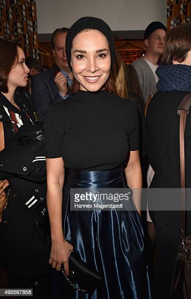 Sandra Ahrabian attends the 'Plaza Mayor Restaurant Opening' on November 3 2015 in Munich Germany