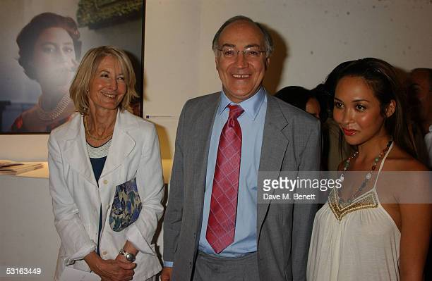 Sandra and Michael Howard and Myleene Klass attend The Sixties Set An Inside View By Robin DouglasHome at the Air Gallery June 28 2005 in London...