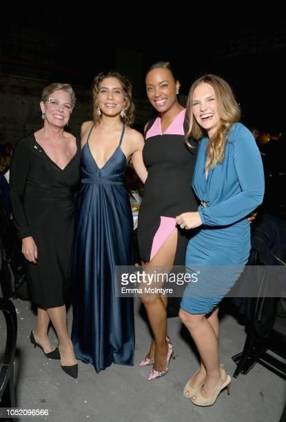 Sandra Anne Bolte Juliana Harkavy Aisha Tyler and Cassandra Jean attend the Barbara Berlanti Heroes Gala Benefitting FCancer at Warner Bros Studios...