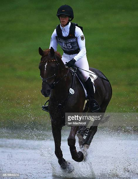 Sandra Auffarth of Germany competes on Opgun Louvo during the Longines FEI European Eventing Championship 2015 at Blair Castle on September 12 2015...