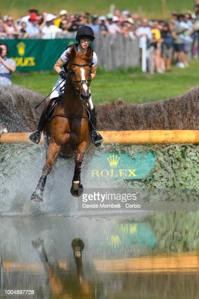 Sandra Auffarthof Germany riding Viamant du Matz during the obstacle in the water of the Cross Country test DHLPrize in the park of the CHIO of...