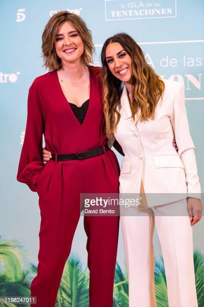Sandra Barneda and Monica Naranjo attend 'La isla de las tentaciones' Tv show presentation on January 8 2020 in Madrid Spain
