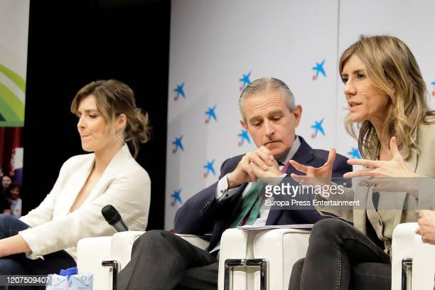 Sandra Barneda Asis Martin de Cabiedes and Begoña Gomez attend 'Ruraltivity' press conference at Caixa Forum on February 19 2020 in Madrid Spain