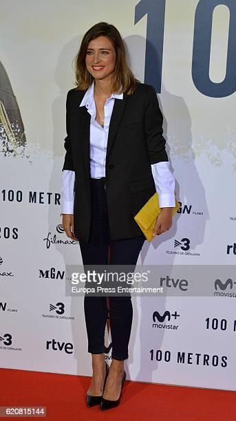 Sandra Barneda attends '100 Metros' premiere at Capitol cinema on November 2 2016 in Madrid Spain