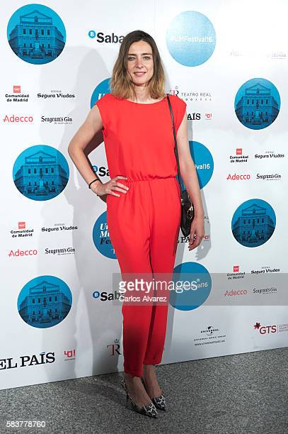 Sandra Barneda attends Diana Krall concert photocall at Royal Theater on July 27 2016 in Madrid Spain