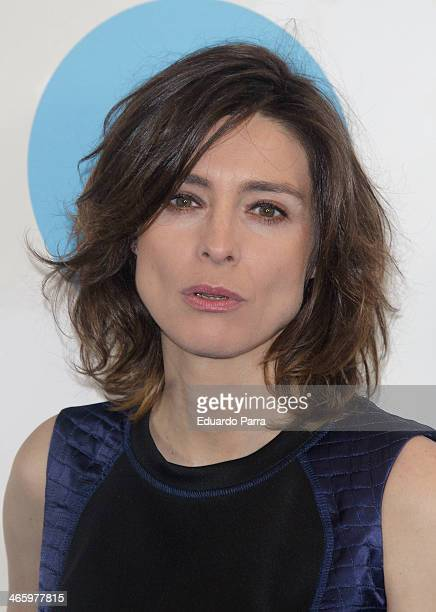Sandra Barneda attends 'El principe' premiere at Callao cinema on January 30 2014 in Madrid Spain