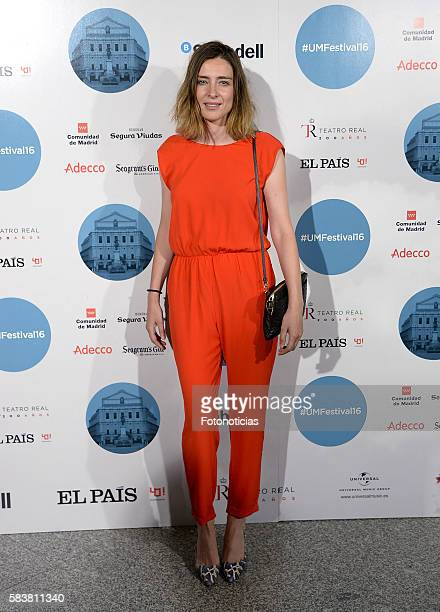 Sandra Barneda attends the Diana Krall Universal Music Festival concert at the Royal Theater on July 27 2016 in Madrid Spain