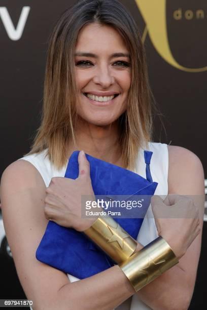 Sandra Barneda wonderwoman bracelet detail attends the 'Yo Donna International Awards' photocall at Duques de Pastrana palace on June 19 2017 in...