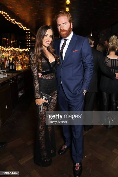 Sandra Bauknecht and Patrick LiotardVogt attend the Tommy Hilfiger VIP Dinner in celebration of the 13th Zurich Film Festival on October 6 2017 in...