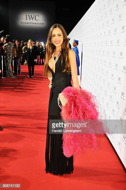 Sandra Bauknecht attends the IWC Come Fly With Us Gala Dinner during the launch of the Pilot's Watches Novelties from the Swiss luxury watch...
