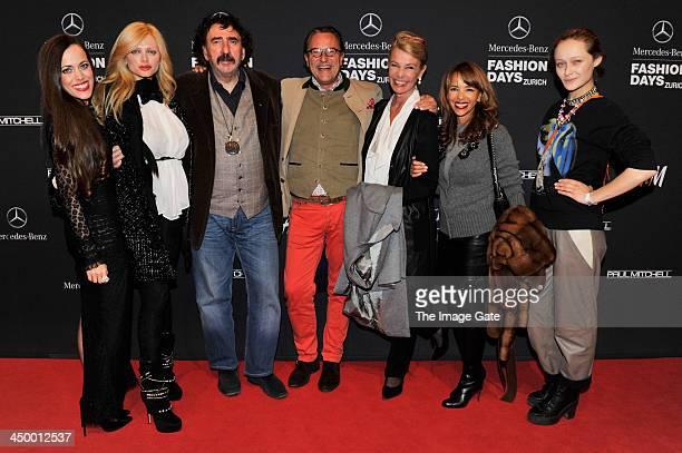 Sandra Bauknecht Monty Shadow Audrey Tritto and guests attend the MercedesBenz Fashion Days Zurich 2013 on November 15 2013 in Zurich Switzerland