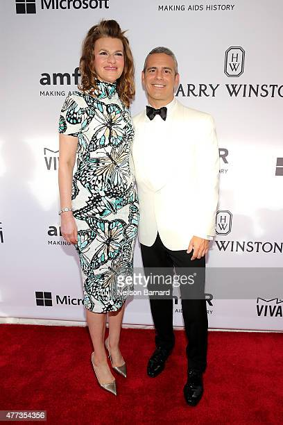 Sandra Bernhard and Andy Cohen attend the 2015 amfAR Inspiration Gala New York at Spring Studios on June 16 2015 in New York City