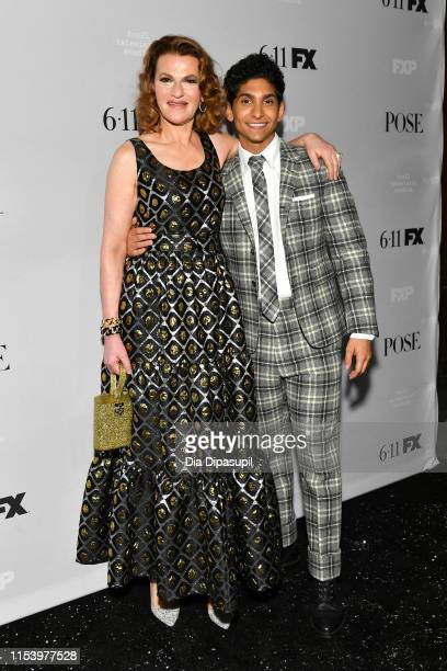 Sandra Bernhard and Angel Bismark Curiel attend FX Network's Pose season 2 premiere on June 05 2019 in New York City