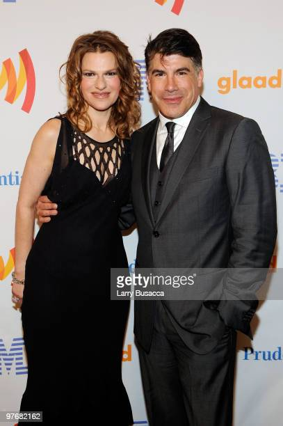 Sandra Bernhard and Bryan Batt attend the 21st Annual GLAAD Media Awards at The New York Marriott Marquis on March 13 2010 in New York New York