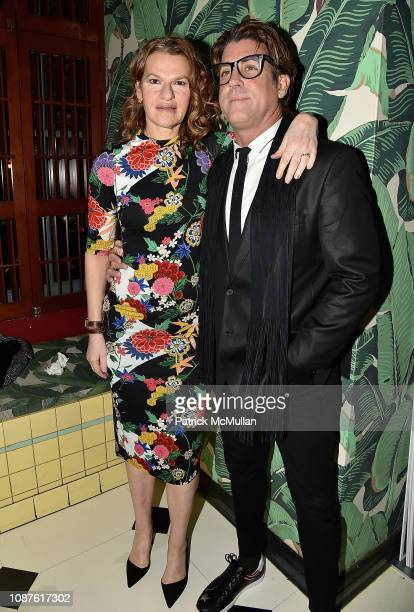 Sandra Bernhard and Carlos Betancourt attend The Andy Warhol Museum's Annual NYC Dinner at Indochine on November 12 2018 in New York City