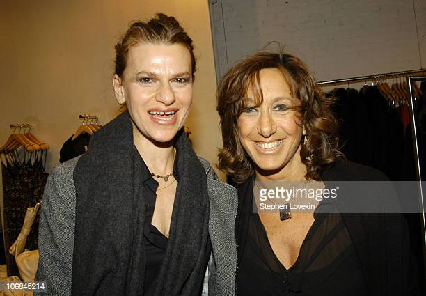 Sandra Bernhard and Donna Karan during Donna Karan and Yehuda Berg Celebrate The Red String Book The Power of Protection at DKNY Soho in New York...
