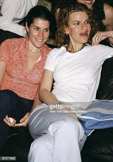 Sandra Bernhard and friend Sara Switzer take in a birthday party at the China Club's new roof restaurant