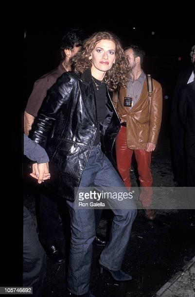Sandra Bernhard and guest during Velvet Goldmine New York City Premiere at Village East Theater in New York City New York United States