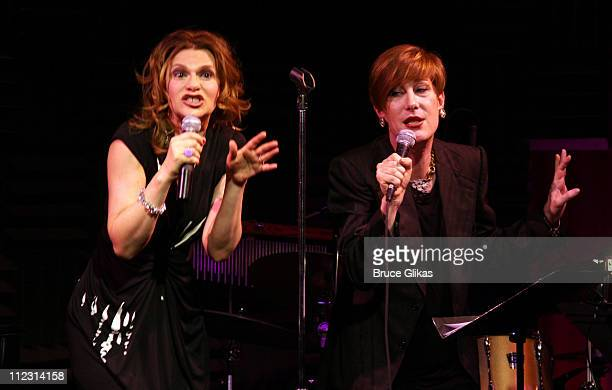 Sandra Bernhard and Justin Bond of Kiki and Herb perform at Joe's Pub to celebrate New Year's Eve 2010 on December 31 2009 in New York City