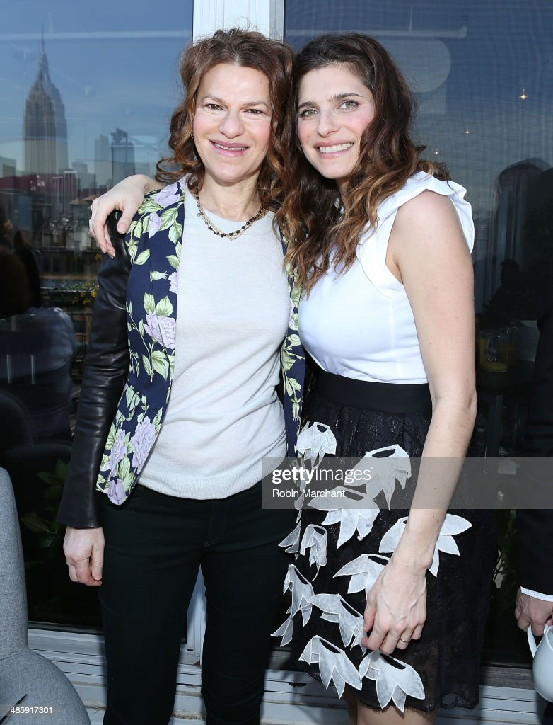Sandra Bernhard (L) and Lake Bell attend Women's Film Brunch at Company 3 on April 21, 2014 in New York City.