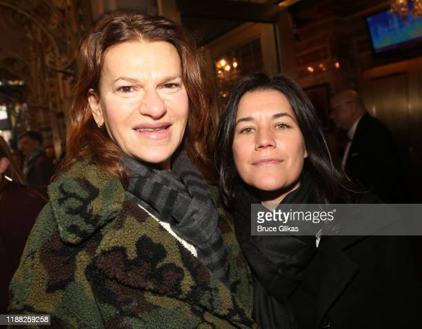 Sandra Bernhard and partner Sara Switzer pose at the opening night of the new Matthew Lopez play The Inheritance on Broadway at The Barrymore Theatre...