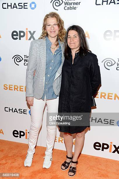 Sandra Bernhard and Sara Switzer attend The Premiere of EPIX Original Documentary Serena at SVA Theatre on June 13 2016 in New York City