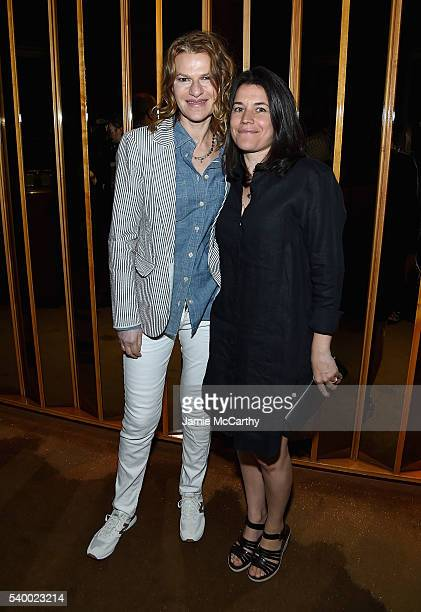 Sandra Bernhard and Sara Switzer attend the Premiere Of EPIX Original Documentary Serena After Party at The Top of The Standard on June 13 2016 in...