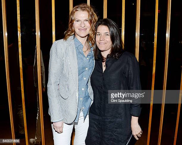 Sandra Bernhard and Sara Switzer attend The Premiere of EPIX Original Documentary Serena After Party at Boom Boom Room on June 13 2016 in New York...