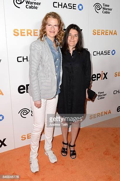 Sandra Bernhard and Sara Switzer attend the premiere of EPIX original documentary Serena at SVA Theater on June 13 2016 in New York City