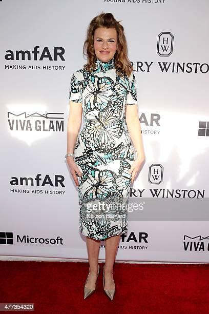Sandra Bernhard attends the 2015 amfAR Inspiration Gala New York at Spring Studios on June 16 2015 in New York City