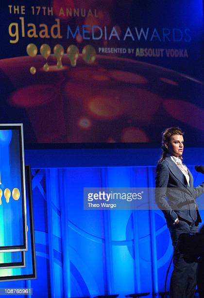 Sandra Bernhard during 17th Annual GLAAD Media Awards Presented By Absolut Vodka Show at Marriott Marquis in New York City New York United States