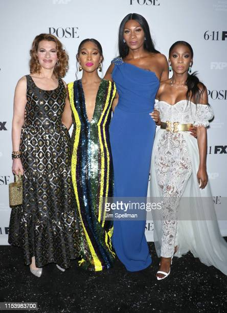 Sandra Bernhard MJ Rodriguez Dominique Jackson and Angelica Ross attend the FX Network's Pose Season 2 Premiere on June 05 2019 in New York City