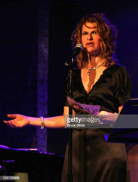 Sandra Bernhard performs at City Winery on July 27 2010 in New York City