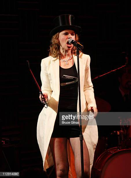 Sandra Bernhard performs at Joe's Pub to celebrate New Year's Eve 2010 on December 31 2009 in New York City