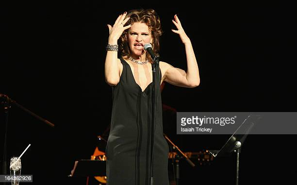 Sandra Bernhard performs at the Canadian International Comedy Fest for Canadian Music Week at Winter Garden Theatre on March 22 2013 in Toronto Canada