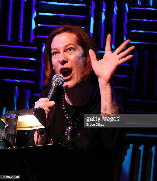 Sandra Bernhard performs during a workshop for the new musical 'Arts and Crafts' at Joes Pub on March 9 2011 in New York City
