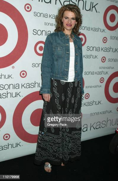 Sandra Bernhard who was the special DJ during Cindy Crawford and Target Celebrate Launch of Sonia Kashuk's New Book Real Beauty at The Whiskey at...