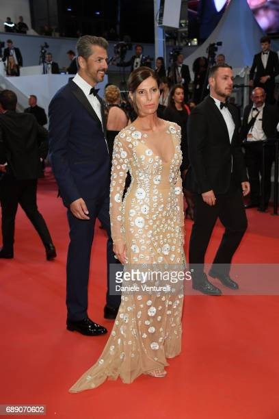 Sandra Berton and Andrea Berton attend the 'You Were Never Really Here' screening during the 70th annual Cannes Film Festival at Palais des Festivals...